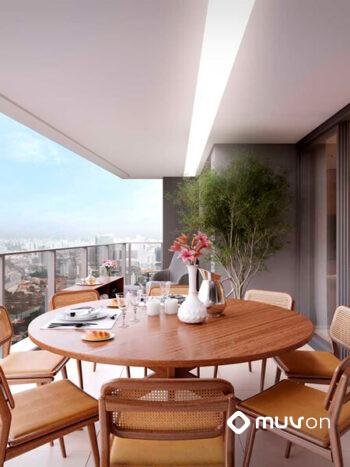 Grand Habitarte - Perspectiva terraço planta 189m 4 suítes