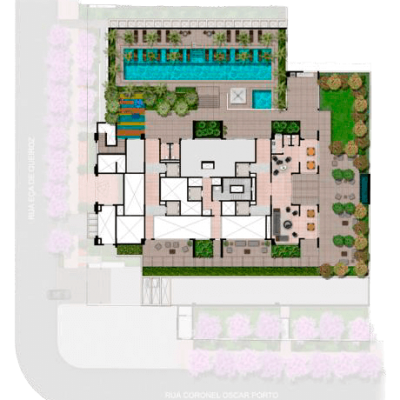 Palazzo Vila Mariana - Implantação Térreo
