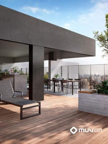 Siga Moema - Área de lazer: Perspectiva terraço lounge