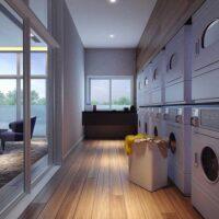 Vitrali Moema - Área de lazer: Perspectiva lavanderia compartilhada