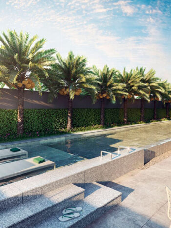 Vitrali Moema - Área de lazer: Perspectiva piscina com deck molhado