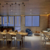 Vitrali Moema - Área de lazer: Perspectiva salão de festas gourmet