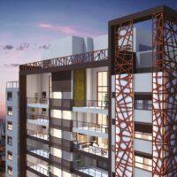Loomi Paulista - Perspectiva detalhe fachada