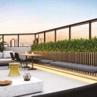 Loomi Paulista - Área de lazer: Perspectiva terraço lounge
