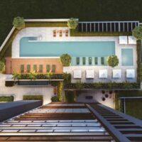 Loomi Paulista - Área de lazer: Perspectiva voo piscina
