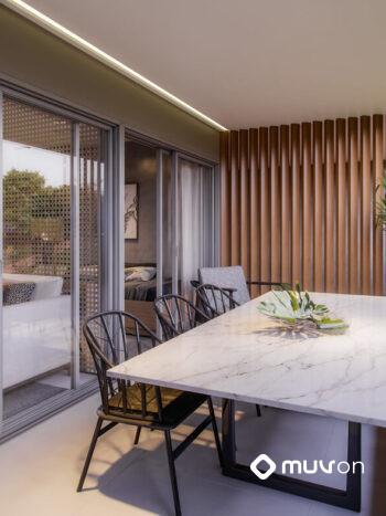 White 2880 - Perspectiva planta 66m² terraço
