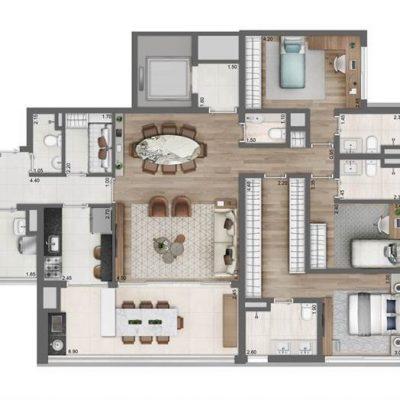 Moema By Cyrela - Planta 149m2 3 suites 2 vagas