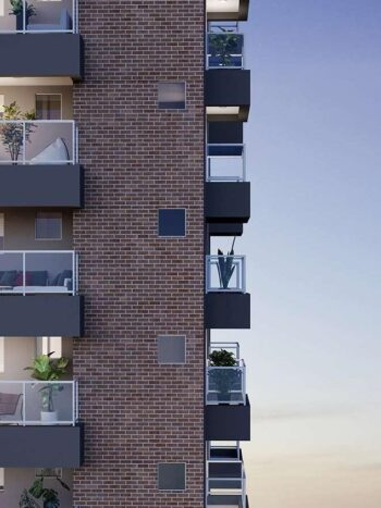 Brooklin Bricks - Perspectiva detalhe fachada