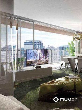 W Residences São Paulo – Hotel - Perspectiva 1 suite ampliada 102m living
