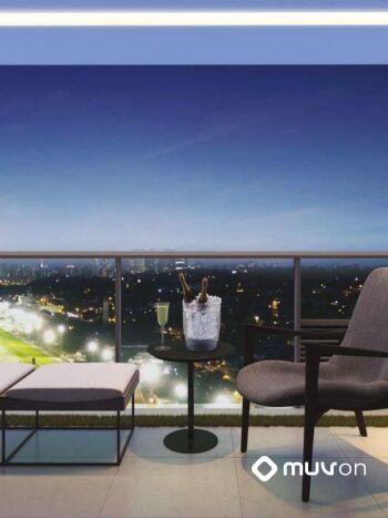 Parque Jockey - Perspectiva terraço 1 dormitório 57m