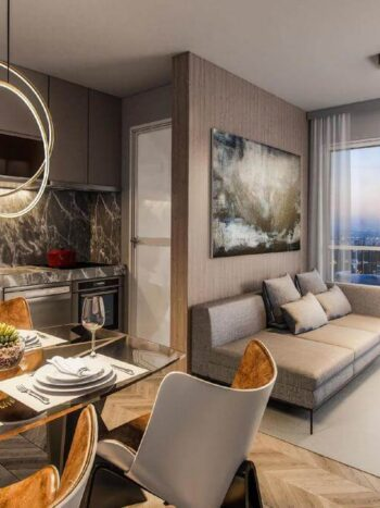 Cyrela For You - Perspectiva living 46m²