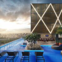 Cyrela Iconyc Highline - Área de lazer: Perspectiva piscina rooftop