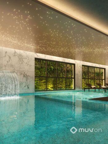 Cyrela Iconyc The Residences - Área de lazer: Perspectiva piscina coberta