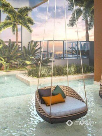 Cyrela Atmosfera Vila Mariana - Perspectiva acqua lounge