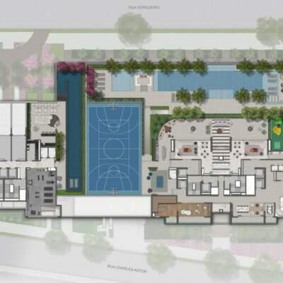 Lumiere Klabin - Lavvi - Residences & Studios - Implantação 1º Pavimento Lazer