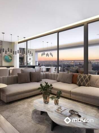 Gravura Perdizes - Residencial - Perspectiva 157m² - Living