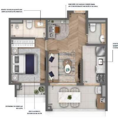 Nau Vila Mariana Cyrela Planta 47m 1 Suite