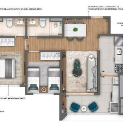 Nau Vila Mariana Cyrela Planta 62m 2 Dormitorios