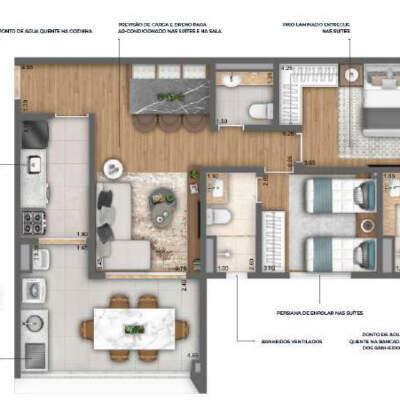 Nau Vila Mariana Cyrela Planta 75m 2 Suites
