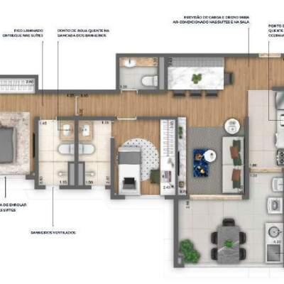 Nau Vila Mariana Cyrela Planta 78m 2 Suites