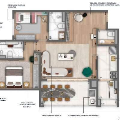 Nau Vila Mariana Cyrela Planta 89m 2 Suites