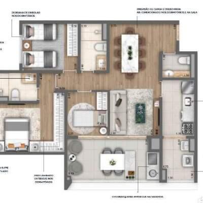 Nau Vila Mariana Cyrela Planta 89m 3 Dormitorios
