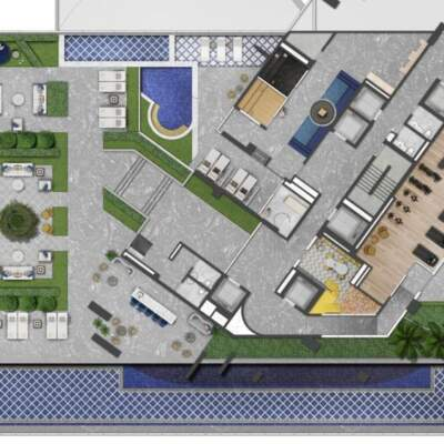 Villa Milano Lifestyle by Versace Home - Residences - Implantação 2º Pavimento