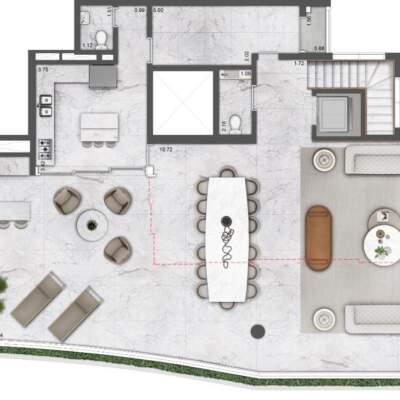 Villa Milano Lifestyle by Versace Home - Residences - Planta 419m² - 4 Suítes - Duplex - Superior