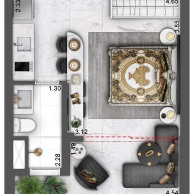 Villa Milano Lifestyle by Versace Home - Studios - Planta 28m²