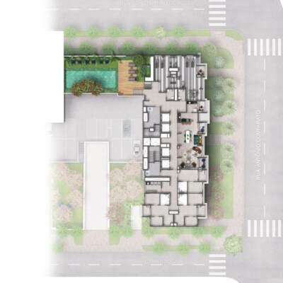 Cyrela Bothanic Apartments Campo Belo - Implantação Lazer