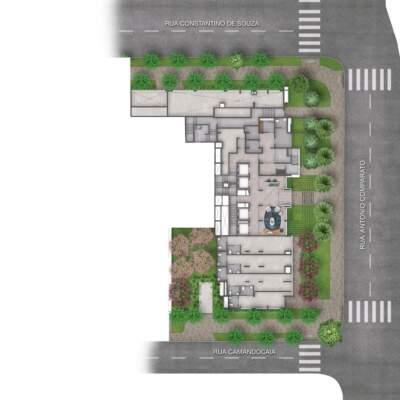 Cyrela Bothanic Apartments Campo Belo - Implantação Térreo