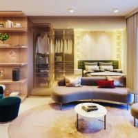 Cyrela Bothanic Apartments Campo Belo - Perspectiva Living 30m² 1dorm