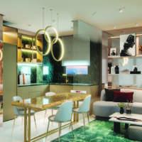 Cyrela Bothanic Apartments Campo Belo - Perspectiva Living Ampliado 42m² 1dorm