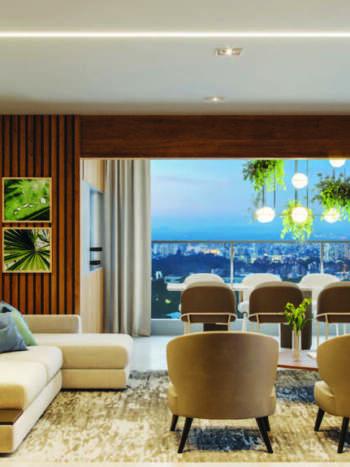 Cyrela Bothanic Residences Campo Belo - Perspectiva Living 135m² - 3 suítes