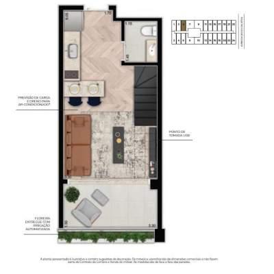 Cyrela For You Moema - Planta 61m² Duplex Inferior