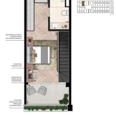 Cyrela For You Moema - Planta 61m² Duplex Superior