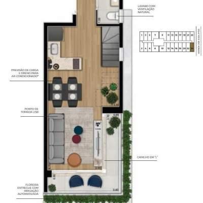 Cyrela For You Moema - Planta 73m² Duplex Inferior