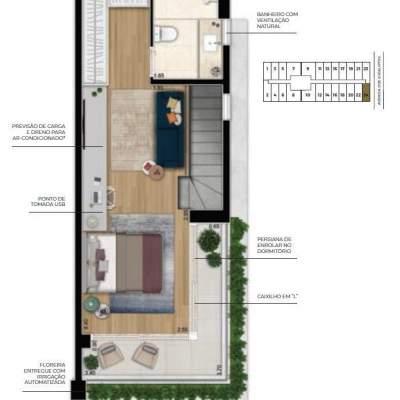 Cyrela For You Moema - Planta 73m² Duplex Superior