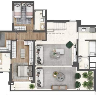 Lavvi Wonder Ipiranga Residences - Planta 313m² Duplex Inferior