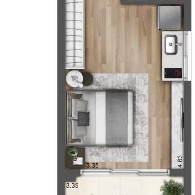 Lavvi Wonder Ipiranga Studios - Planta 37m² Residencial