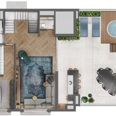 Legacy Campo Belo - Planta Duplex Superior 330m², 4 Suítes, opção com terraço de serviço