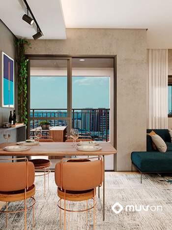 Smart Nova Home Klabin - Perspectiva living de 49m²