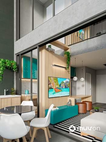 Artem Anália Franco - Perspectiva duplex Uira 64m²