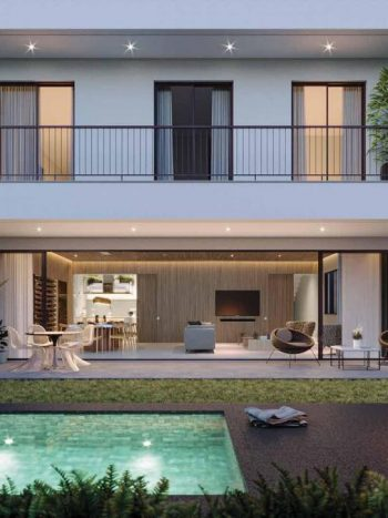 Casa Jardim Campo Belo - Perspectiva jardim com piscina
